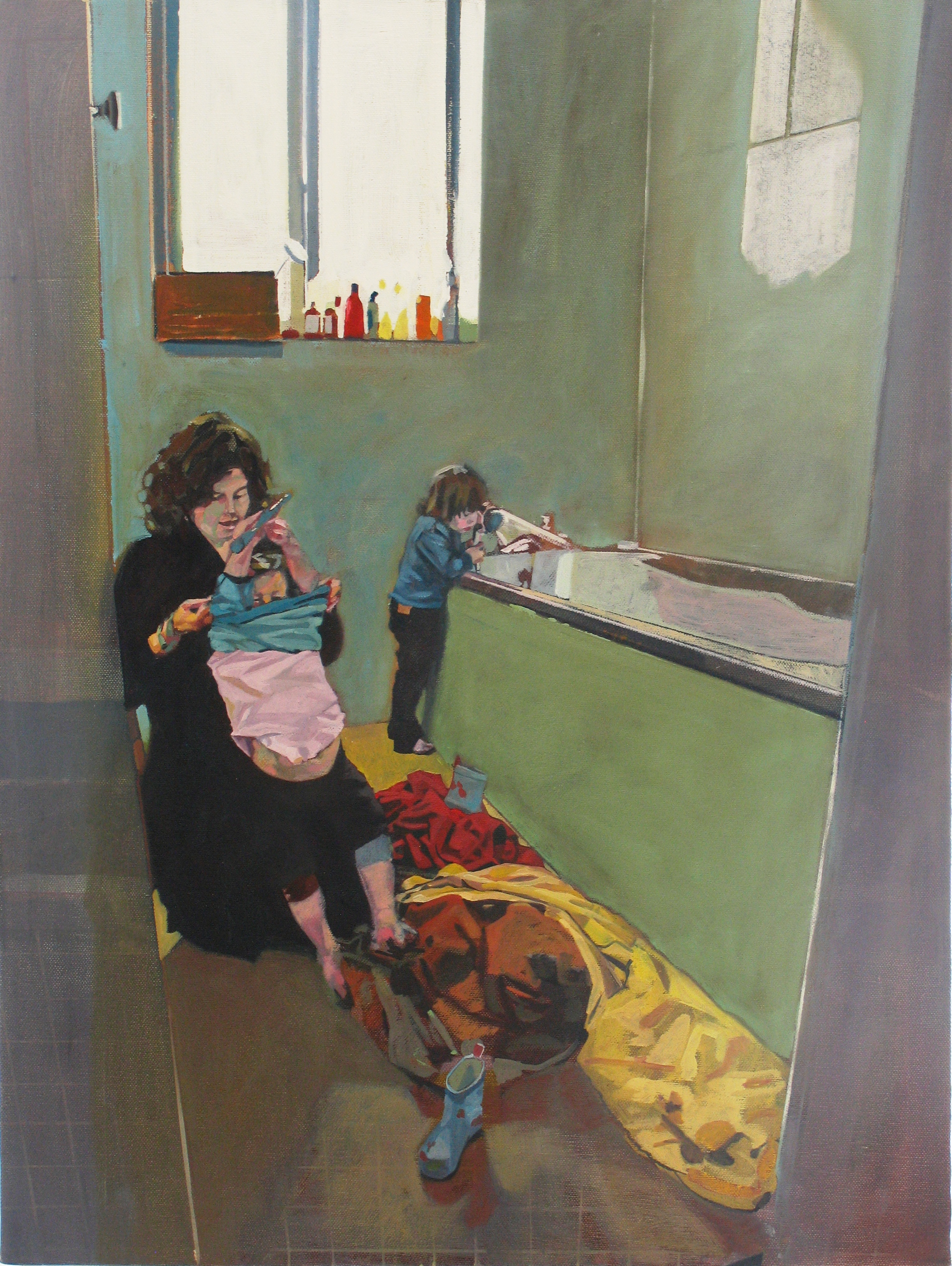 Maedhbh, Ally and Edey, 2011, oil on canvas, 24 x 18in.