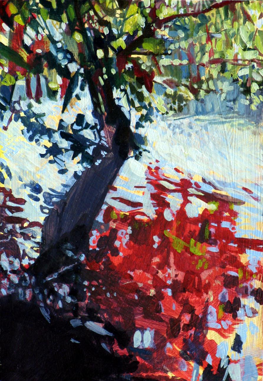 The Dordogne, 2010, oil on board, 8 x 6in.