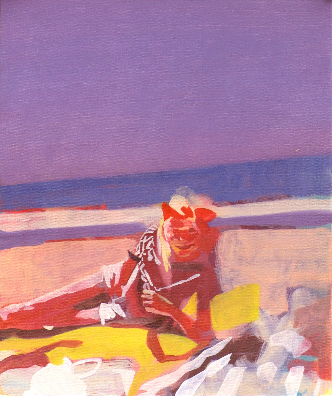 The Girl on the Beach, 2011, oil on canvas, 12 x 10in.