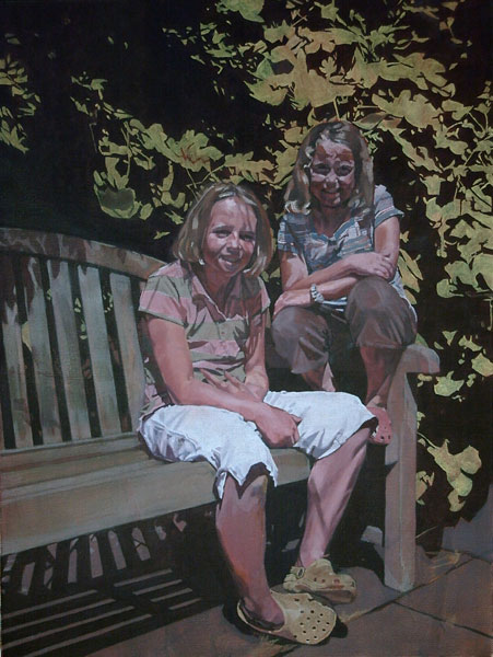 Emma and Flora, 2008, oil on canvas, 24 x 18in.
