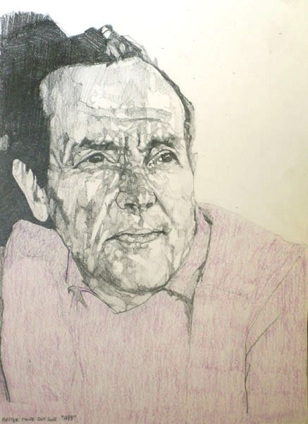 HFD, 2008, pencil on paper, 32.2 x 24.5cm.