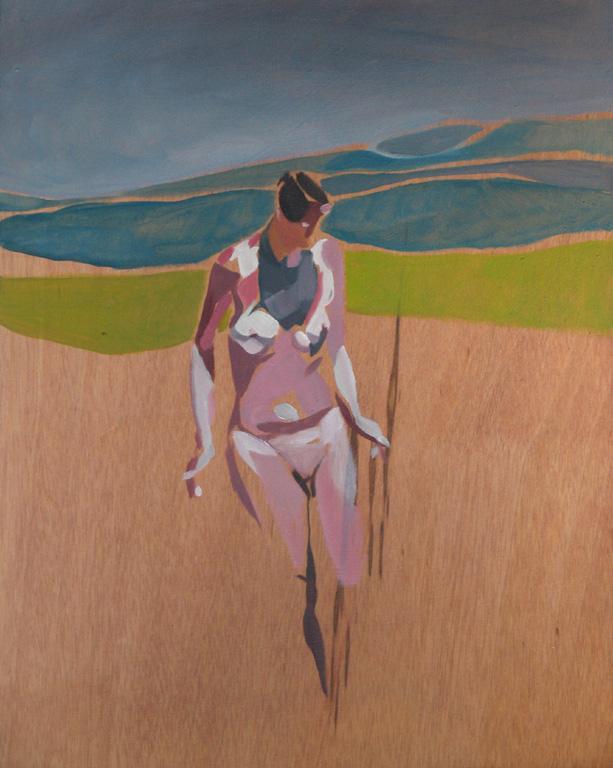 Naturist Series, No. 7, 2012, oil on board, 15 x 12in.