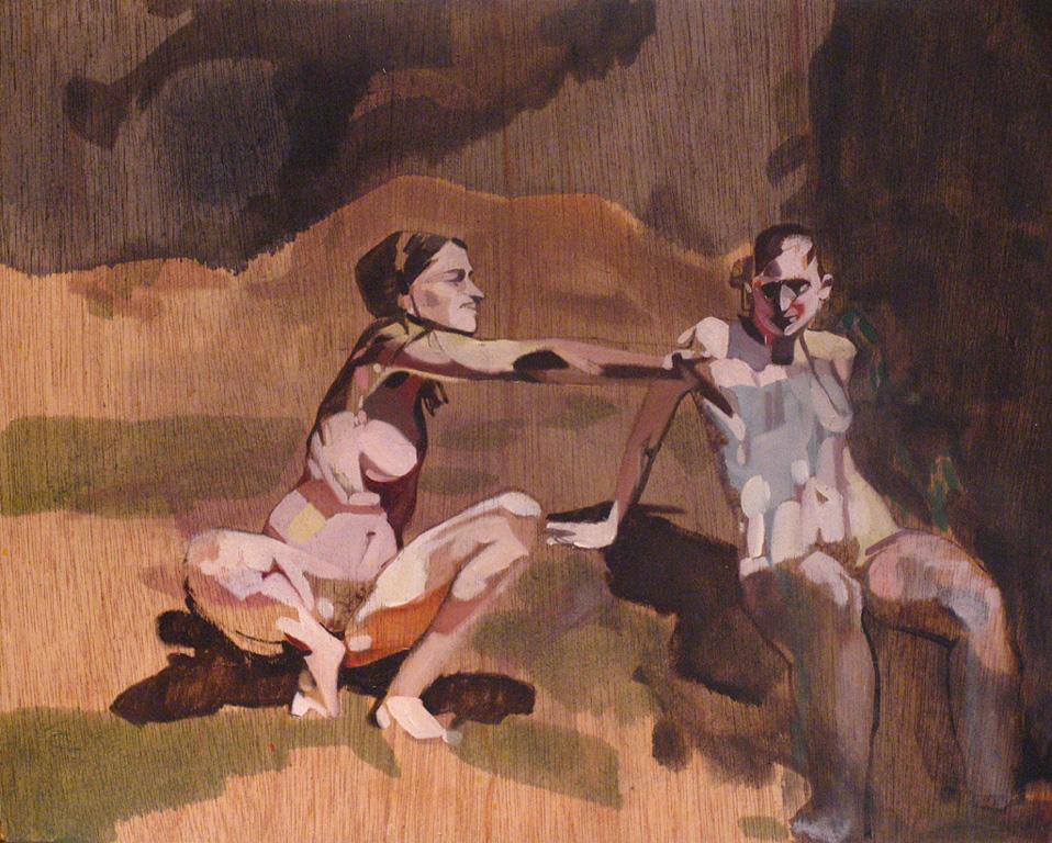 Naturist Series, No. 15, 2012, oil on board, 12 x 15in.