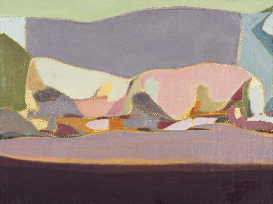 Headless Nude (Lying, Pale Purple/ Pale Pink) , 2015, oil on linen   on board, 8 x 6in