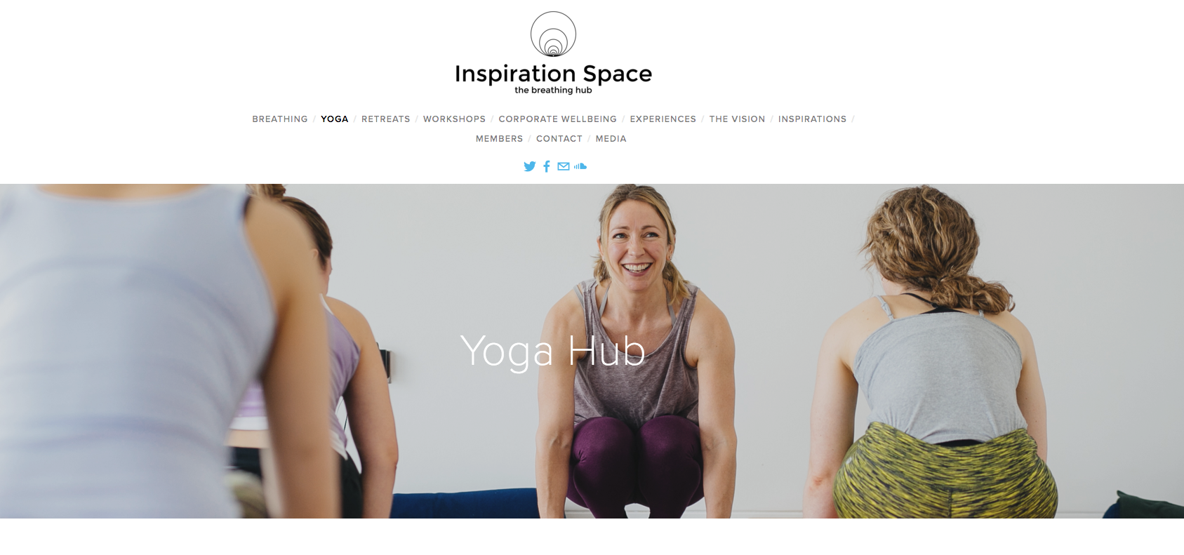 The new Inspiration Space website