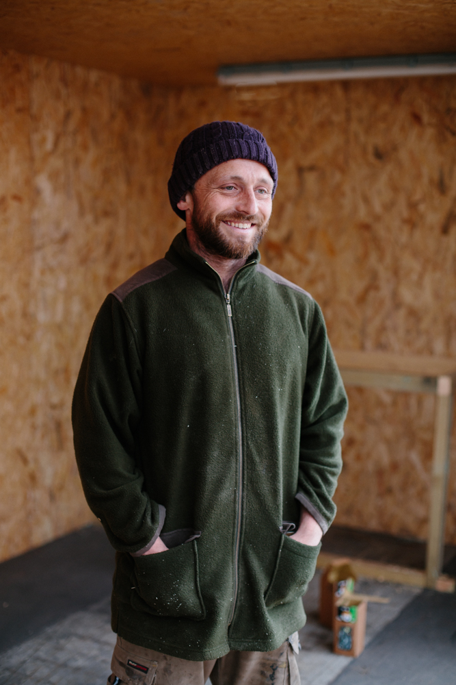 Ostins, 33, London     Carpenter working at the Dukirk camp building community kitchens