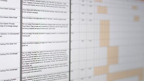 Marketing plan tracking