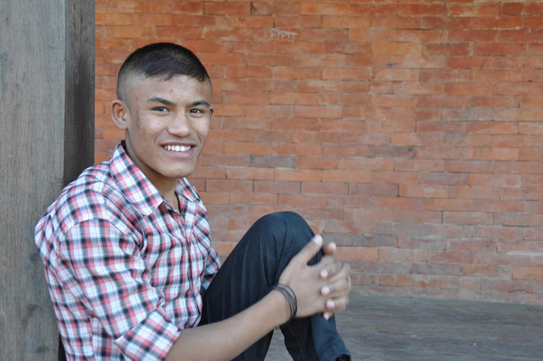 Paul    Paul was abandoned by his parents and lived on the streets of his village in Western Nepal.  He would steal for food and ate out of the garbage. Paul would ride busses and sing to the passengers hoping for a few coins. There was a Christian man in his village who tried to care for Paul, but he was not able to because of his work.  This man eventually brought Paul to the children's home when he was six years old.  Paul told us that he struggled adjusting to life in the home and had a hard time remembering to use the toilet in the bathroom.  David was very patient with Paul, and helped him along.  Paul did well in school, and he will be enrolling in college this year.  He still likes to sing, but he sings in church now.
