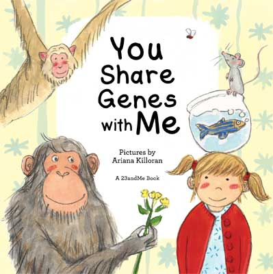 """What do you have in common with a fish? A fly? Your friends? Our DNA connects us all, big and small!  I created this board book with 23andMe, Inc. to accompany the Smithsonian Museum's exhibit """"Genome: Unlocking Life's Code.""""  Available online  here ,  here , and  here ."""