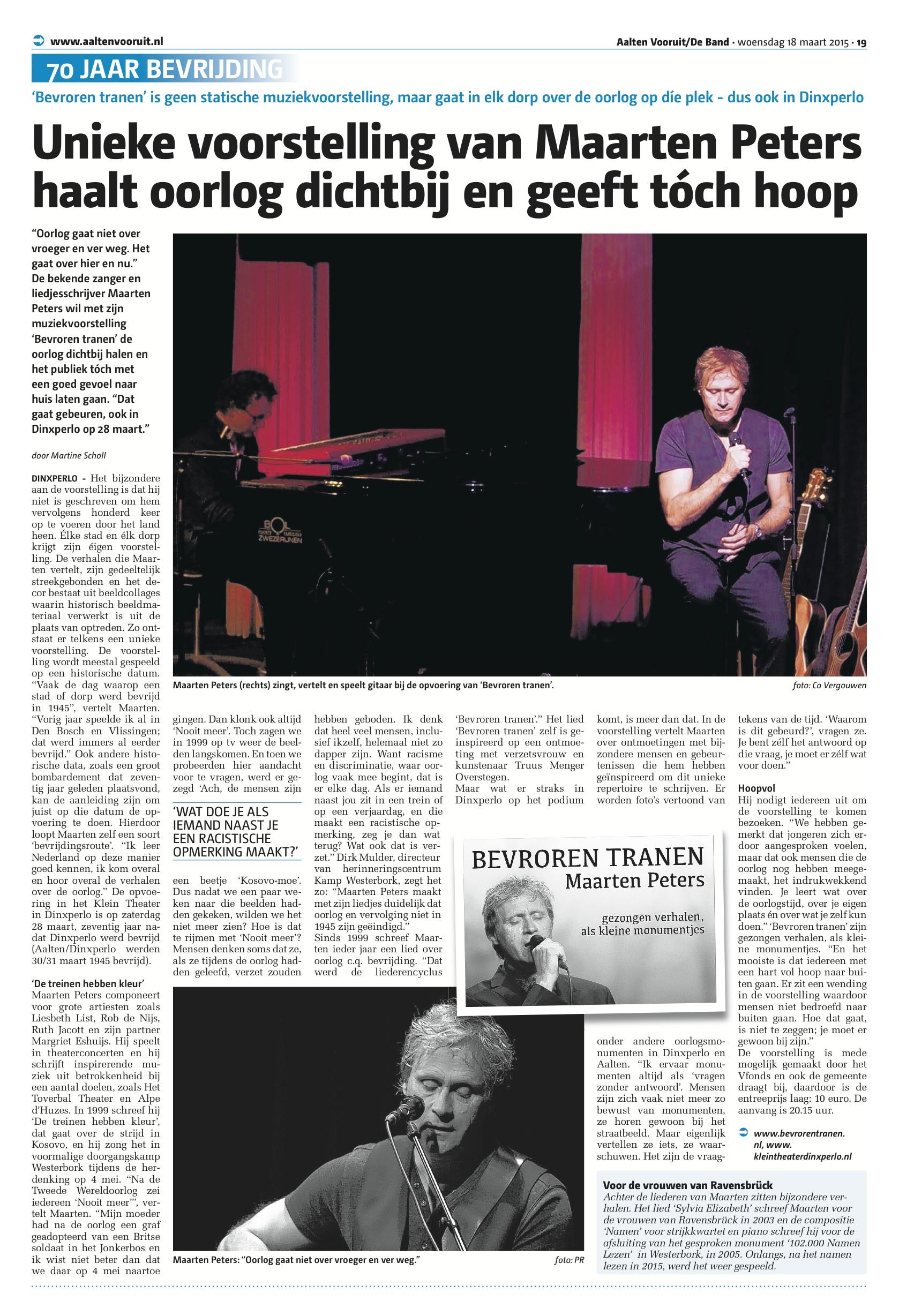Publicatie voor aankondiging Dinxperlo  fotografie Marielle Hensums, tekst Martine Scholl