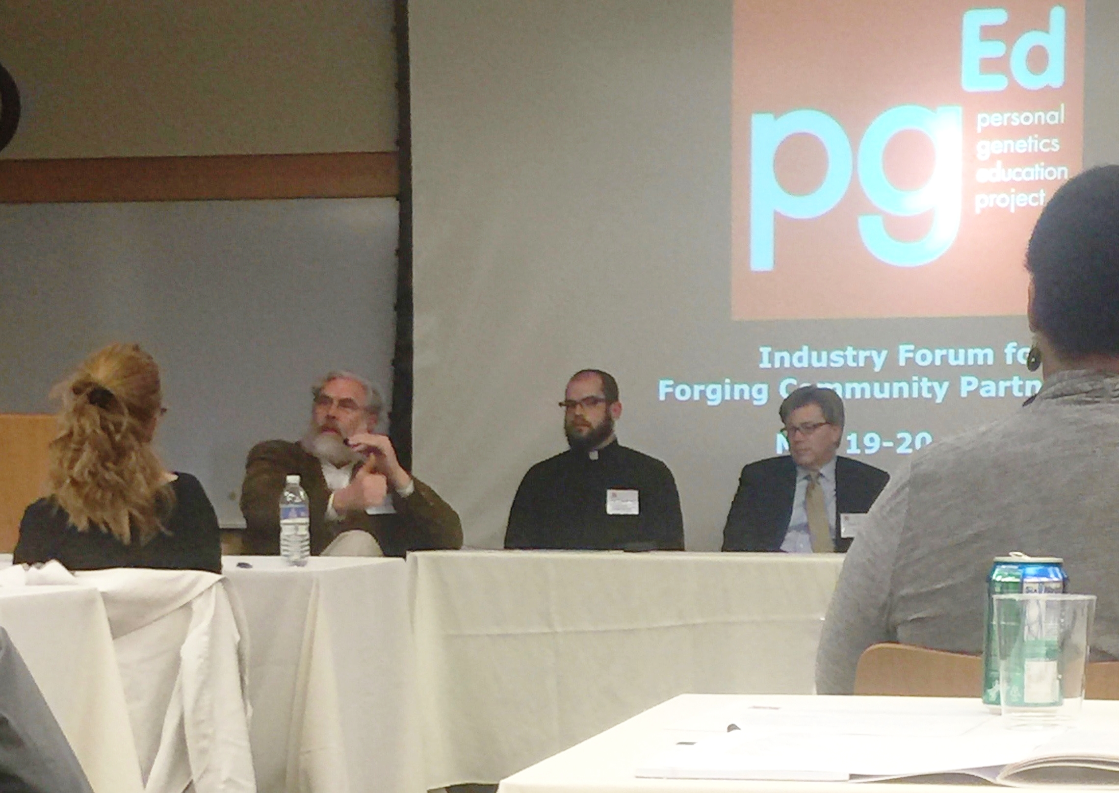 Chad Baldanza, on a panel discussing what it means to be made in the image of God, with leading scientific innovators.