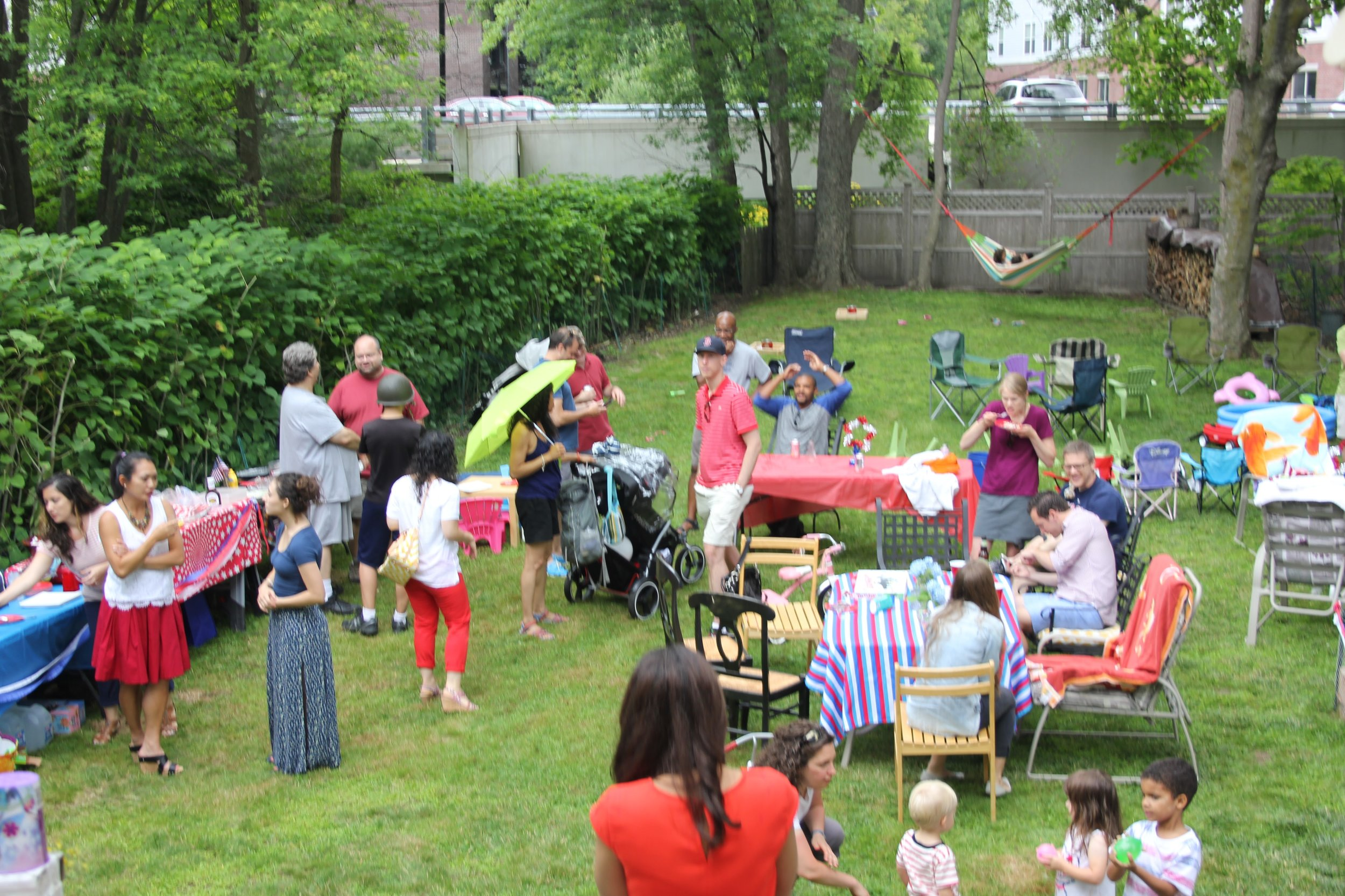 The northern suburbs community group invites the neighborhood over for a cookout.