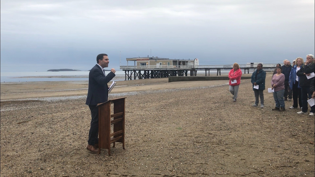Rev Matt Owens preaching at sunrise service