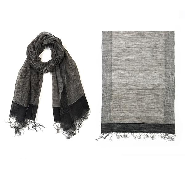 "002-018  ASHBURY LAYERED SCARF   50% Wool, 50% Silk; Handwoven;20"" X 71"""