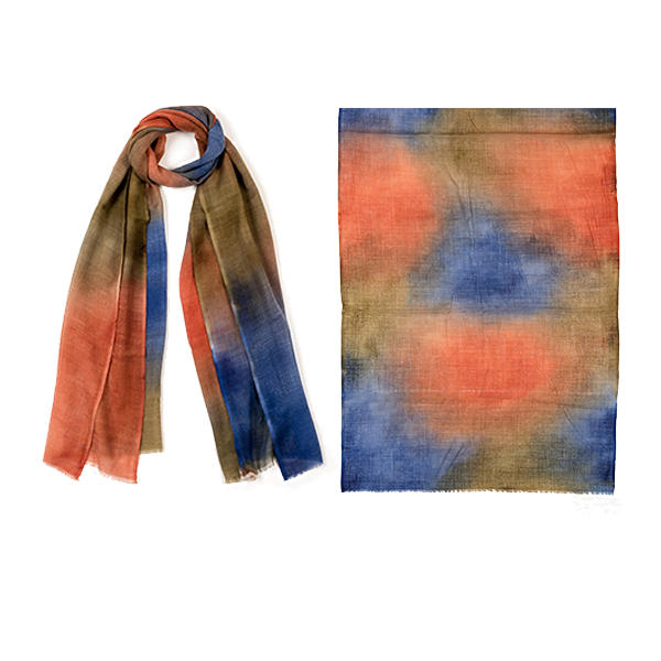 "001-050  WATERCOLORS SCARF  92% Wool, 8% Silk;27.5"" X 75"""