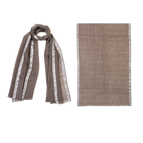 "006-007-BH  GLIMMER SCARF BLUSH  90% Wool, 10% Lurex;27.5"" X 71"""
