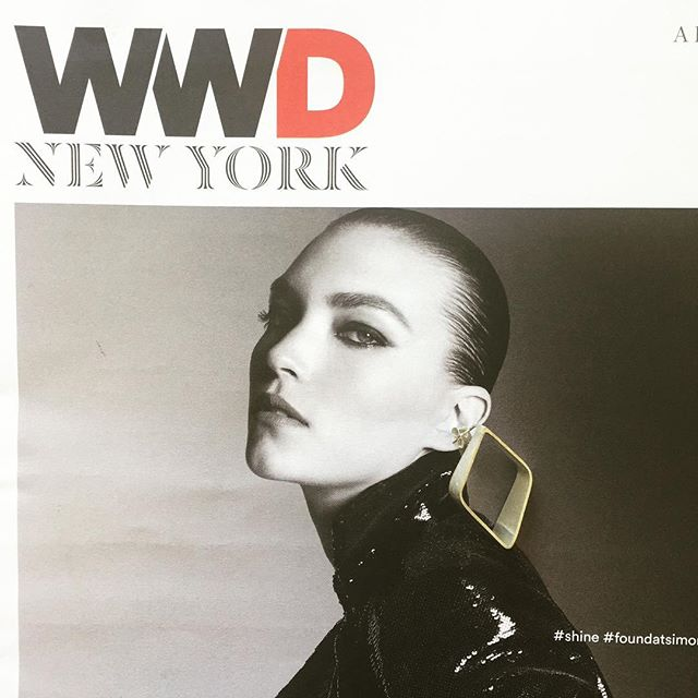 Catching up on #NYFW 👠 day 2️⃣ with @wwd | Ft. our FW16 'Diamonda' earrings