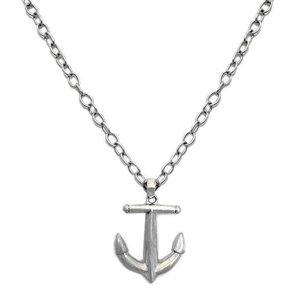"""MM365  HEAVY METAL ANCHOR     Brushed Finish, 24"""" Chain"""