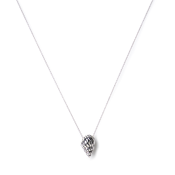 MISC058  CONCH SHELL NECKLACE    Oxidized, High Polish Finish