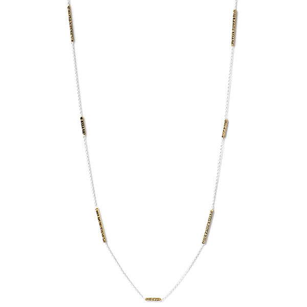 """AB226GP CHANGING STATIONS NECKLACE   18K Gold Plate over Sterling Silver; High Polish Finish; 40"""" Long"""