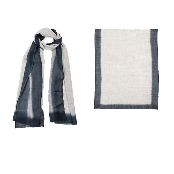 "001-010-SM  ROTHKO SCARF SMOKE   92% Wool, 8% Silk; Hand-Dyed; 27.5"" x 75"""