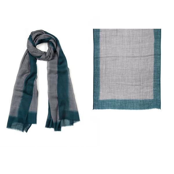 """001-010-EM ROTHKO SCARF EMERALD   92% Wool, 8% Silk; Hand-Dyed; 27.5"""" x 75"""""""