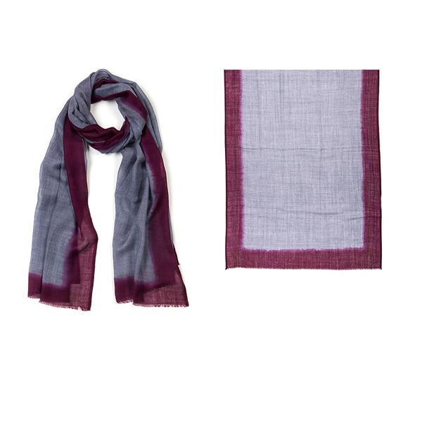 "001-010-SR ROTHKO SCARF SUNRISE   92% Wool, 8% Silk; Hand-Dyed; 27.5"" x 75"""