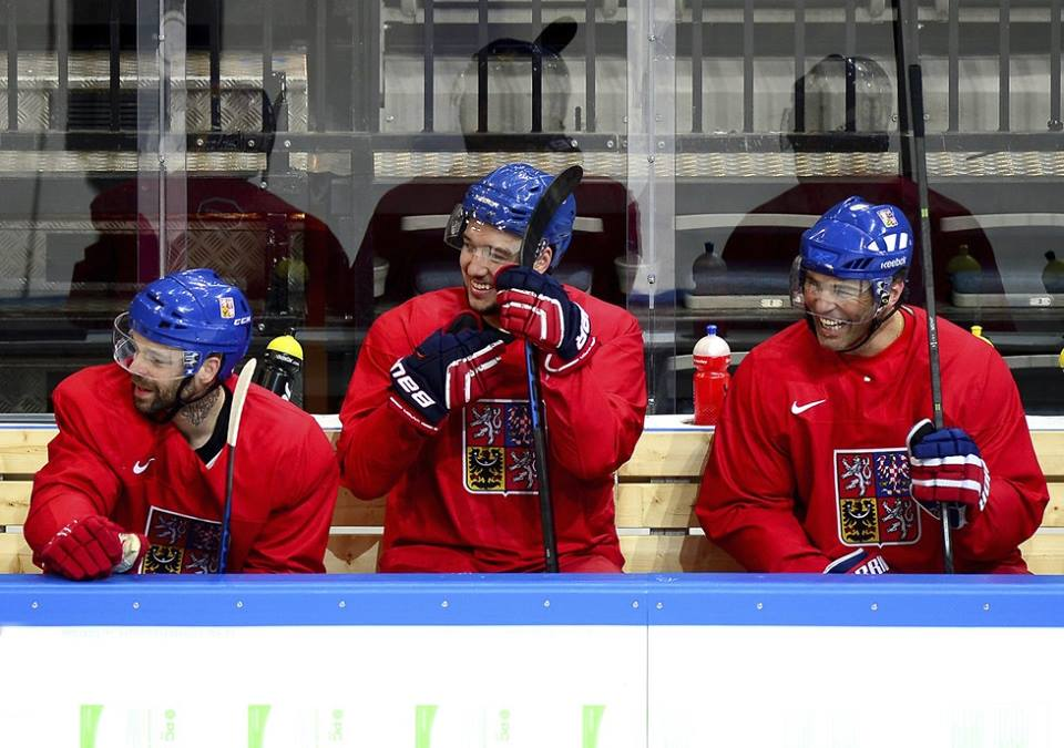 Czech Republic's 2nd line; Jagr on the very right. Source:  World Champ's official FB profile .