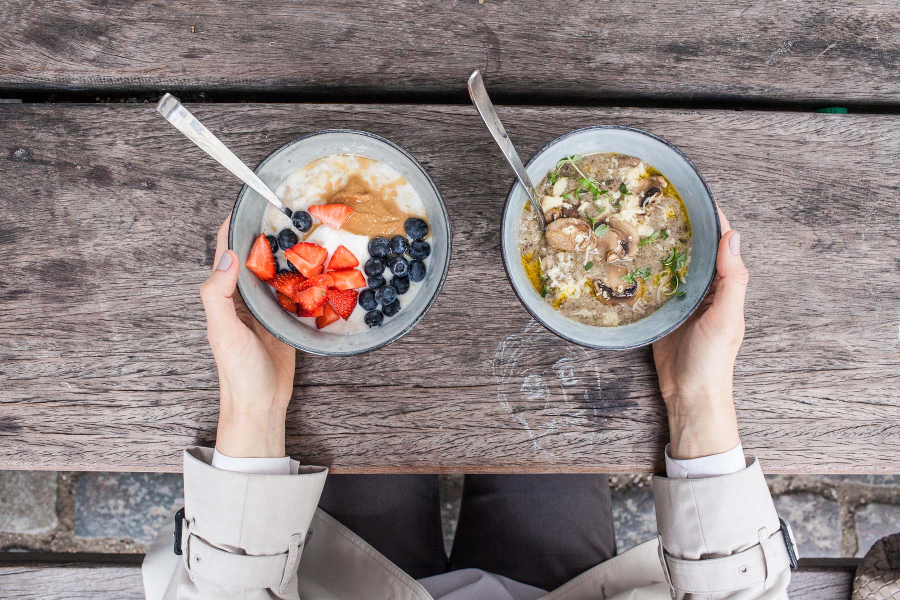 """Started the day with Grod. We had the mushroom and """"regular"""" oatmeal. Who knew it could be so good. Would love to have it in Prague, too."""