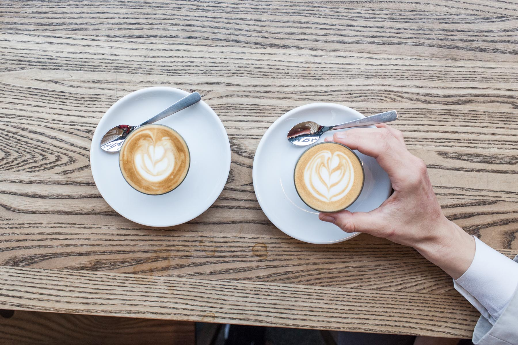 """New town, new coffee terminology. They do serve """"chortados"""" in Copenhagen."""
