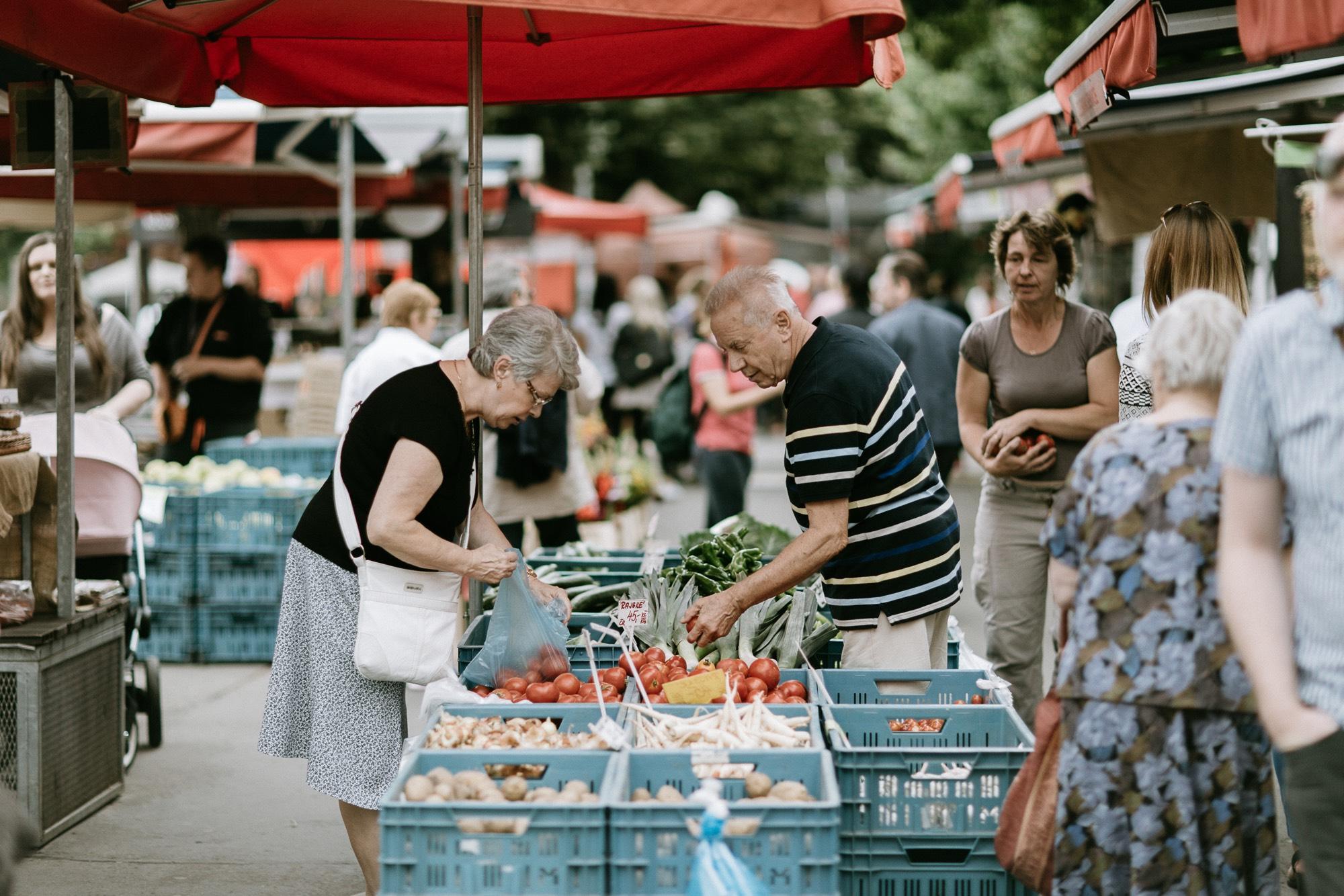 Jirak farmers market Prague