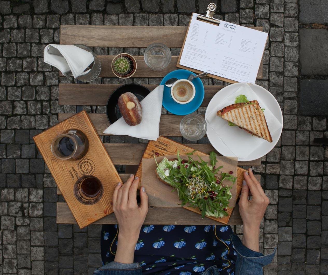 Breakfast at coffee room, Prague