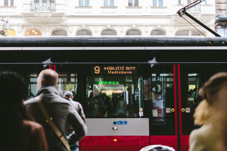 streetcar in Prague, Czech Republic