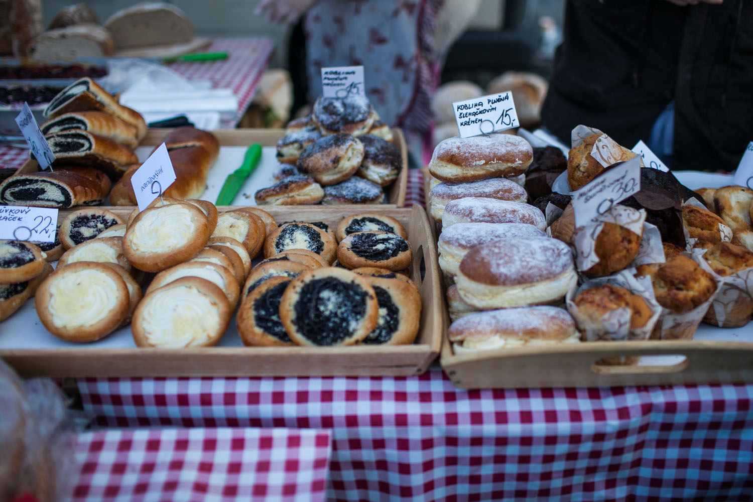 farmers markets - pastries in Prague