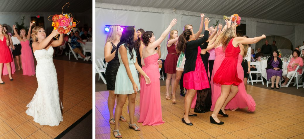 Ok, I had a much better {mid air} pic of the girls, however, someones dress went too high!