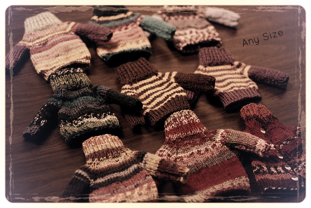 Knitting colorful sweaters