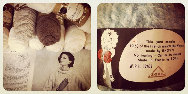 Knitting yarn for class