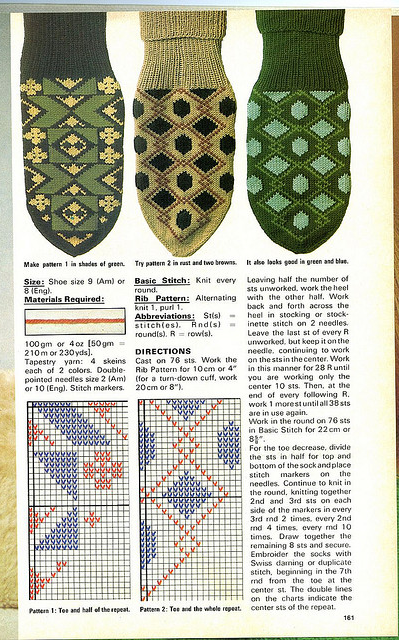 Learning knitting colorwork socks
