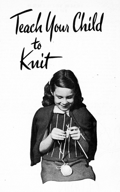 Learning to knit book for kids