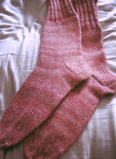 Learn to make these knitted socks in class