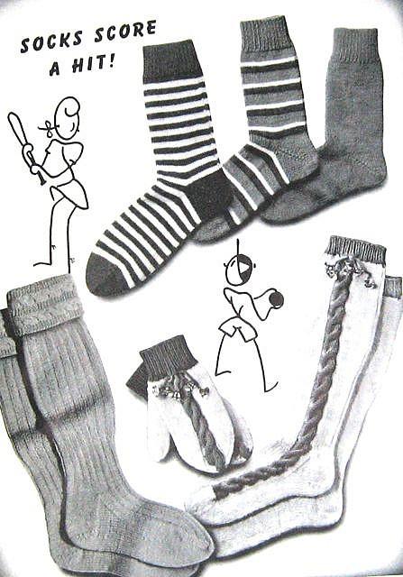 Knitting socks of different styles