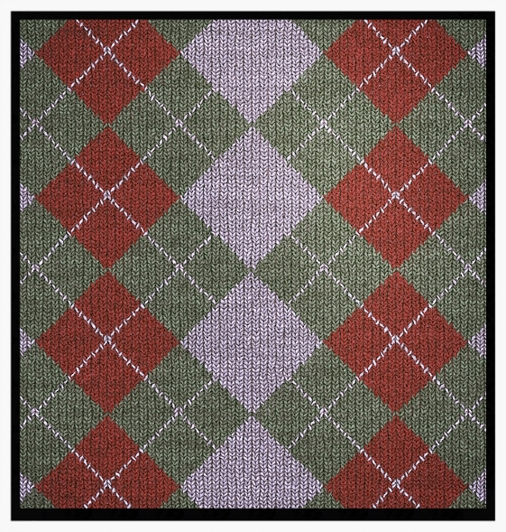 Knitted argyle