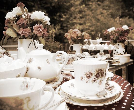 Knitting tea gathering