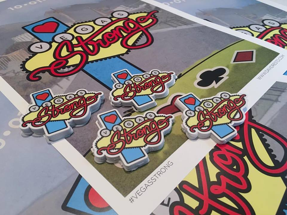 VegasStrong Stickers by David Resto Zappos Donation