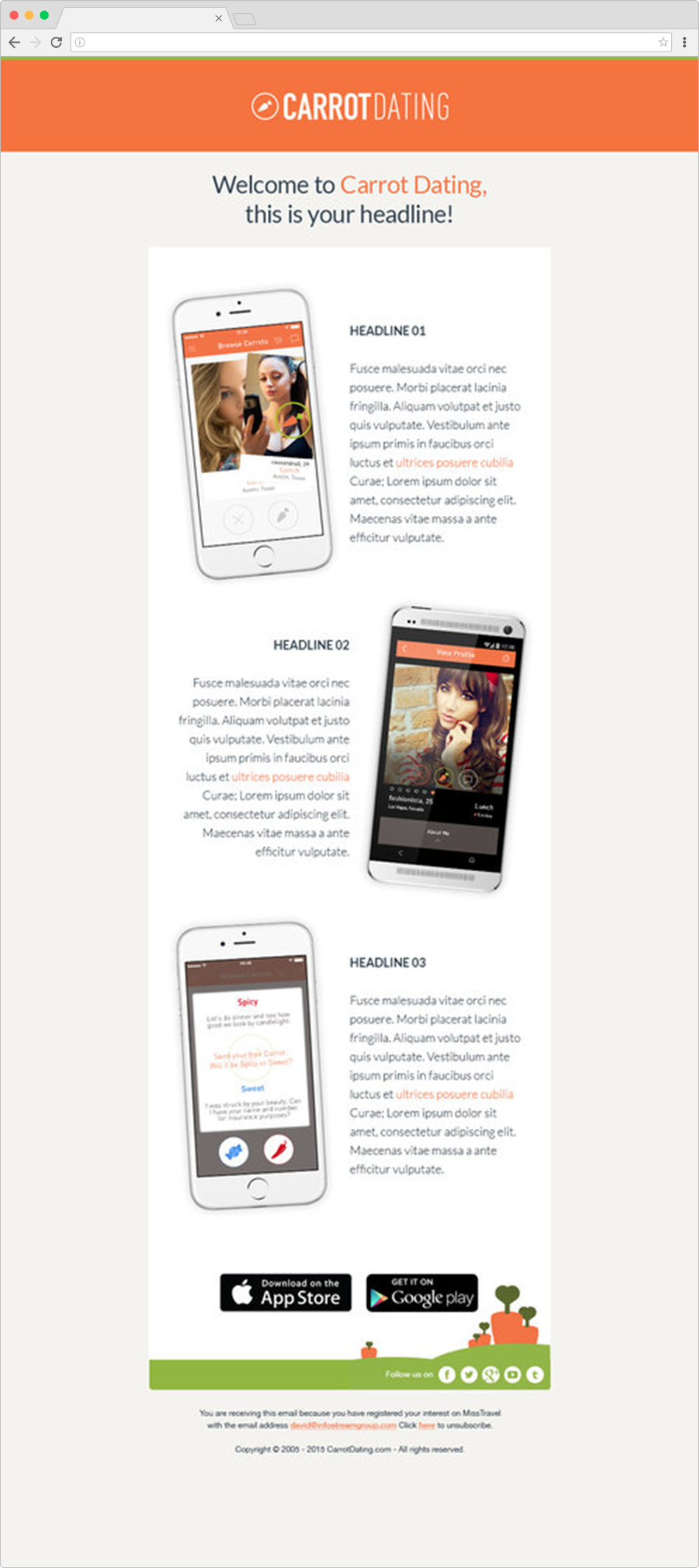 Launch Mockup Email