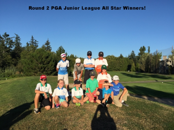 Round 2 PGA Junior League All Star Winners!