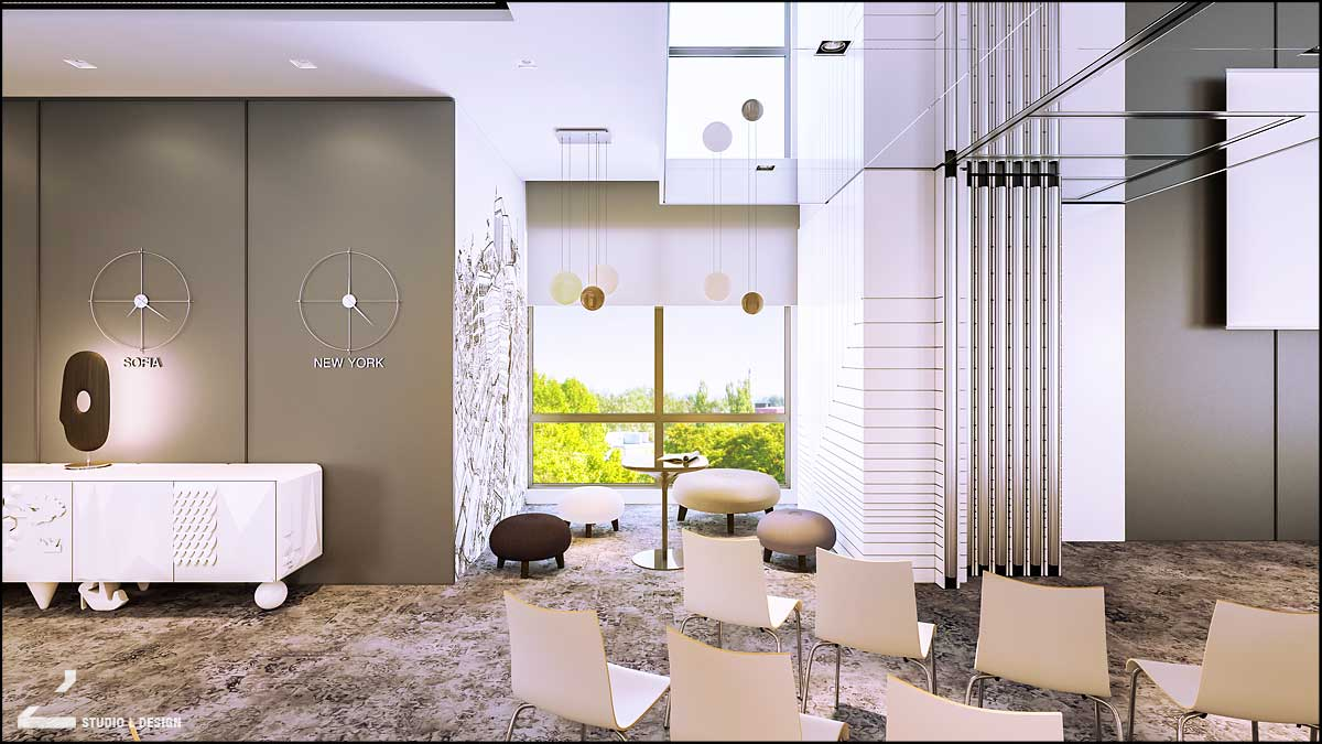conference hall breakout area design