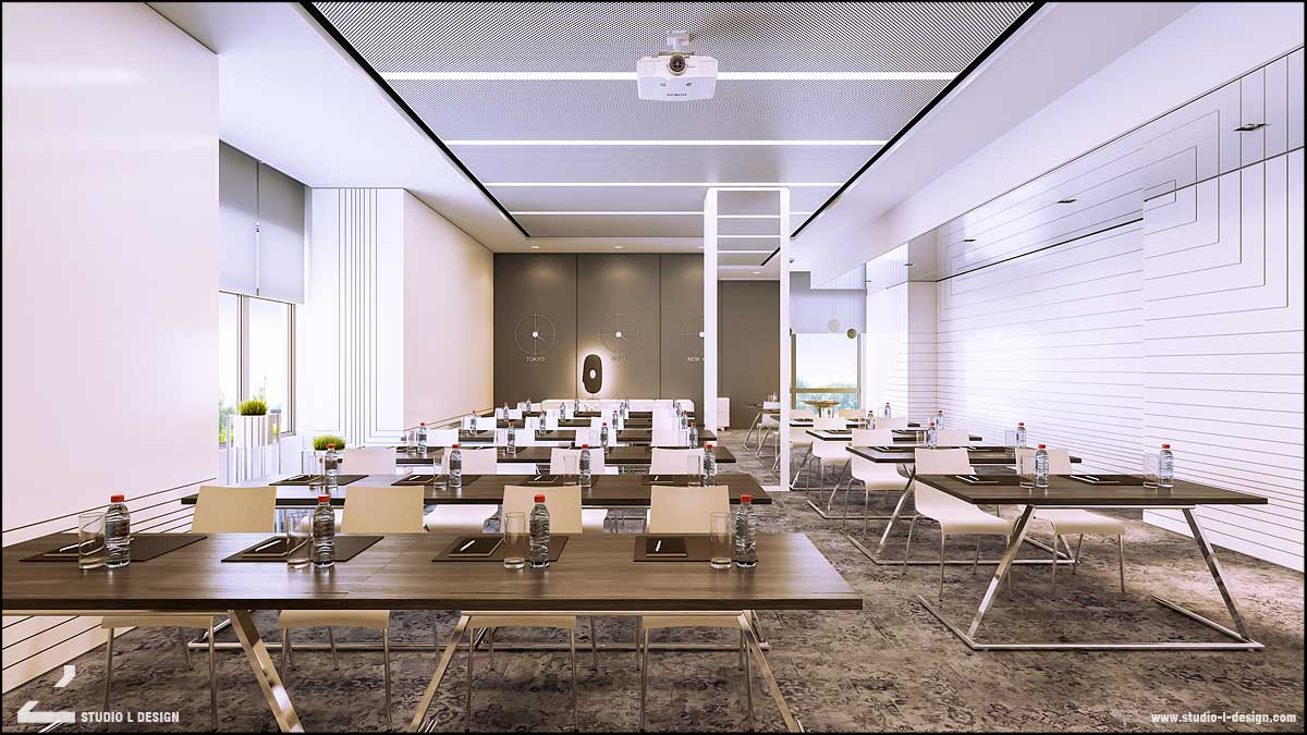 business center interior design