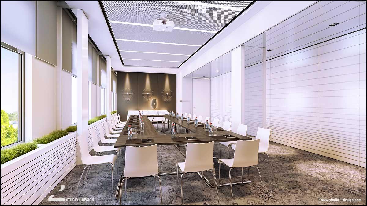 интериорен дизайн заседателна зала