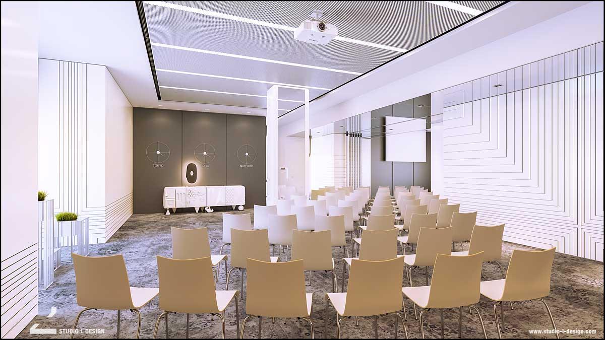 интериорен дизайн конферентна зала